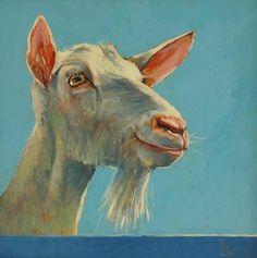 Geit  Theo Onnes Goat Paintings, Animal Paintings, Farm Animals, Animals And Pets, Cute Animals, Goat Art, Sheep Art, Animal 2, Stone Painting