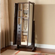 Charmant Mirrored+jewelry+armoire+free+standing | Full Length Mirror Jewelry Cabinet  U2013