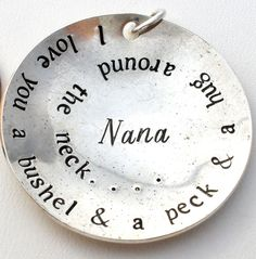 Sterling Silver Nana Pendant for Necklace I Love You A Bushel & A Peck Charm 925 | Jewelry & Watches, Fine Jewelry, Fine Necklaces & Pendants | eBay!
