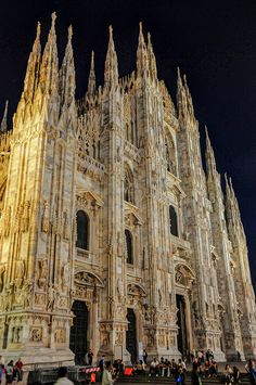 Duomo di Milano (Milan Cathedral at Night), Milan, Italy - my favorite place in all of Europe!