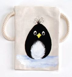 Craft Painting - Penguin Bag