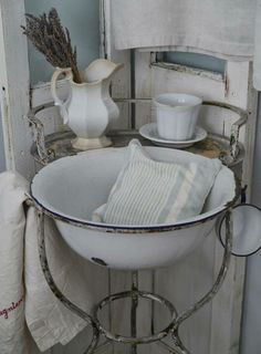 """Time to wash up""- antique wash stand"