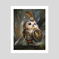 Owl Knight, an art print by Leesha Hannigan - INPRNT