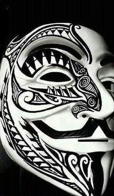 . Anonymous Tattoo, Anonymous Mask, Badass Wallpaper Iphone, Hacker Wallpaper, Evil Tattoos, Body Art Tattoos, Tattoo Fonts Alphabet, Behind Ear Tattoos, 7 Arts
