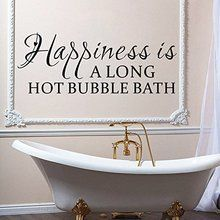 """Dnven (Black 43""""w X 17""""h) Happiness Is a Long Hot Bubble..."""