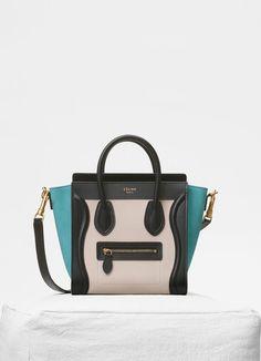 e8e4cd61f586 Nano Luggage bag in multicolour baby grained calfskin | CÉLINE Celine Nano  Luggage, Celine Bag