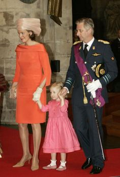 Princess Mathilde, July 21, 2006 in Fabienne Delvigne