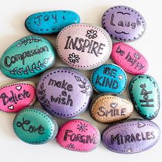 Word Rocks - Paint several of rocks with inspirational words and leave them at random places for people to find. A great activity for kids.