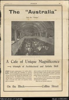 Advertisement for Cafe Australia