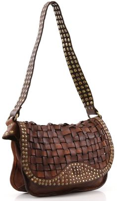 Campomaggi Lavata Shoulder Bag Leather cognac 27 cm - C1152VL-1702 - Designer Bags Shop - wardow.com