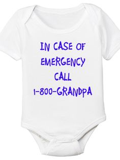 1-800-Grandpa - Organic Baby Onesie