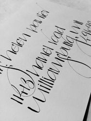 J. Panter Calligraphy | Styles