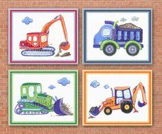 "Amazon.com: Under Construction - Little Boys Nursery Art Prints (11""x14"", (4) Set of Four): Baby"