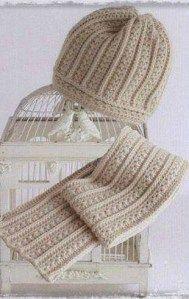 Crochet cap and scarf Bonnet Crochet, Crochet Cap, Crochet Scarves, Crochet Shawl, Crochet Stitches, Free Crochet, Knitting Patterns, Crochet Patterns, Crochet Accessories