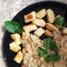 Millet gnocchi with wild mushroom sauce