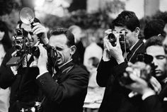 Papa, paparazzi - a group of paparazzi members at the Cannes Film Festival in Cannes, France, date unknown.