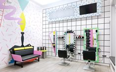 Stunning Different Style Mirrors S Hair Salon Interior - Your Home Design (shared via SlingPic)