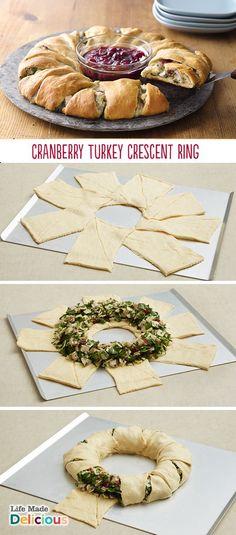 Cranberry Turkey Crescent Ring