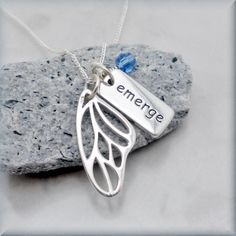 Graduation Necklace Emerge Butterfly Wing by BonnyJewelry on Etsy, $30.00