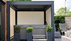 Pergola Attached To House Roof Metal Pergola, Deck With Pergola, Covered Pergola, Patio Roof, Pergola Kits, Pergola Cover, Pergola Roof, Backyard Pool Designs, Pergola Designs