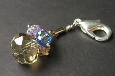 Crystal Keychain. Crystal Pendant. Rainbow Crystal Charm. Keyring Zipper Pull Purse Charm or Phone Charm. Handmade Charm. by Gilliauna from Bits n Beads by Gilliauna. Find it now at http://ift.tt/1q0IcWD!