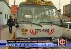 Empresa de transportes 'El Chosicano' no revisa el historial de sus choferes | América Noticias