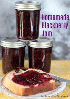 Homemade Blackberry Jam - Jen Around the World