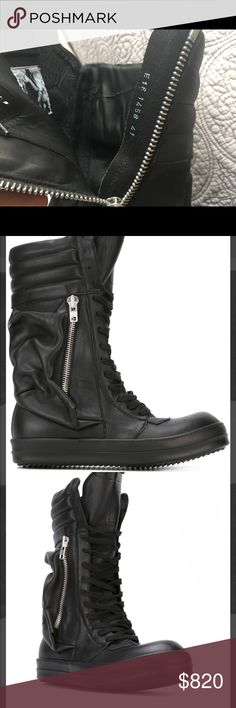 Rick Owens black cargobacket boot . Size 41 Rick Owens Scarpe in Pelle Cargobasket men's boot . Size 41 eur ( us -8) . In very good condition . Please do not hesitate to ask questions or additional pictures. Thank you Rick Owens Shoes Boots
