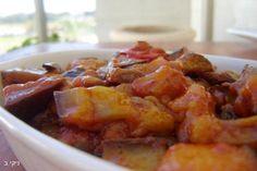 סלט חצילים פטריות ועגבניות מעולה / צילום: ניקי ב