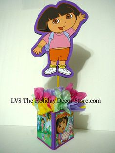 Complete Dora The Explorer Birthday Party Centerpiece Decorations Supplies | eBay
