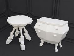 This is Neorococo, I love how they've abstracted baroque and rococo furniture by faceting 3d models!