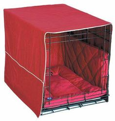 Front Door Dog Crate Cover - Medium-Burgundy