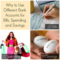 Use different bank accounts for bills, spending, and savings
