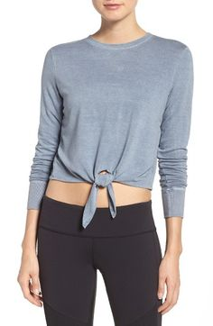 Free shipping and returns on Splits59 Volley Crop Top at Nordstrom.com. Vintage-washed French terry adds to the ease of this tie-waist crewneck.