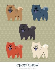 CHOW CHOW art print van doggiedrawings op Etsy