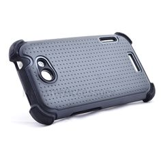 $11.95 > 10% Coupon Code : Pinthis Black X Shield Double Layer Hard Case Gel Cover For HTC One X