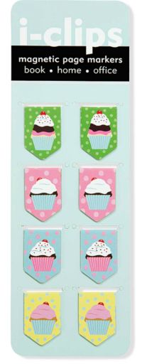Sometime it's nice to have attractive paper clips.These Cupcake Magnetic Page Markersmake a nice alternative.