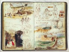 sketchbook page, travel