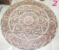 Round Wood Wall Decor oriental round carved wood wall decor. decorative floral wall