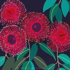 Work in progress on this red flowering gum. There are so many varieties, I may never finish this series! Australian Wildflowers, Australian Native Flowers, Australian Art, Gouache Painting, Painting & Drawing, Graphisches Design, Pattern Wallpaper, Collage Art, Flower Art