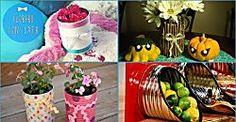 Cómo convertir latas en floreros ¡y mucho más!