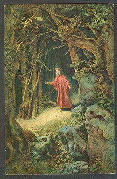 D. Mastroianni, postcard (No. 1), color, Inferno I