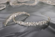 Gorgeous Erica Koesler tiara and hair pin for a bride #bling #tiara #bride #princess