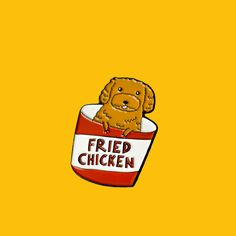Fried Chicken Puppy Enamel Pin // Inspired by @lifeofjinkee on Instagram from PinstaPals.com