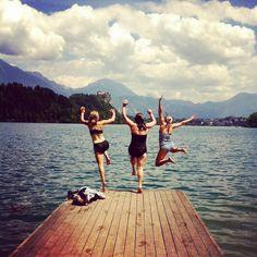 Swim in Lake Bled, Slovenia. Check.