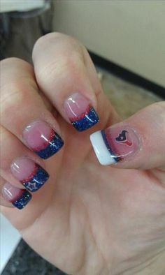 Awesome!!!  but why is there a dallas star on one of the nails?  that is a big no no!