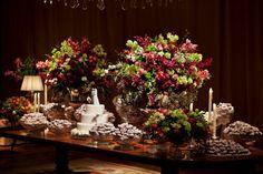 mesa de doces rosa vinho verde