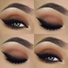 """""""I really like smokey eyeliners ✖️ For products used go to my previous post on this look """" @makeupthang ♡♥♡♥♡♥"""