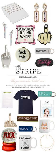 Irreverent Gifts - The Stripe 2016 Holiday Gift Guide