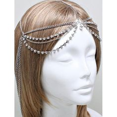 4.21$  Watch here - http://dil56.justgood.pw/go.php?t=201720401 - Rhinestone Layered Forehead Chain